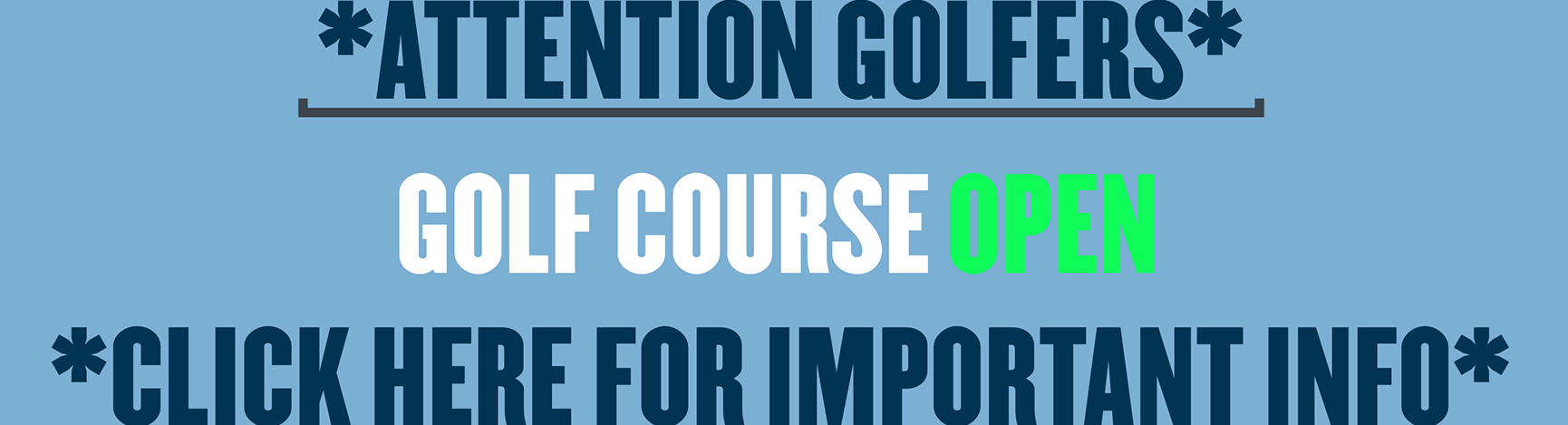 course is open